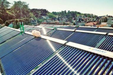 Sistema de Aquecimento de Agua com Coletor Solar 1